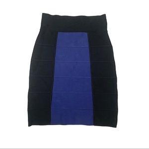 BGBC Black Purple Multi Color Bandage Short Skirt